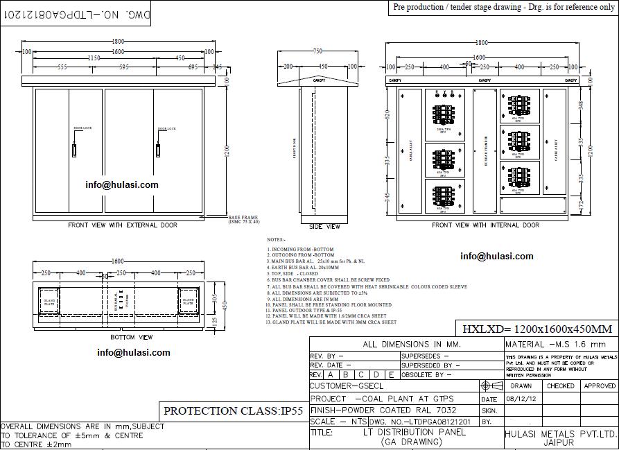 hanut india offers customized acdb dcdb lt panels