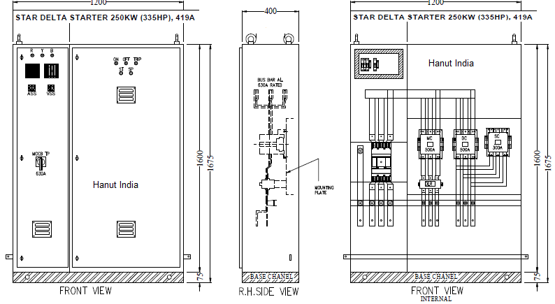 circuit diagram of fully automatic star delta starter on circuit Diagram Of Motor Starter hanut india offers automatic star delta motor starter panels diagram of a starter motor