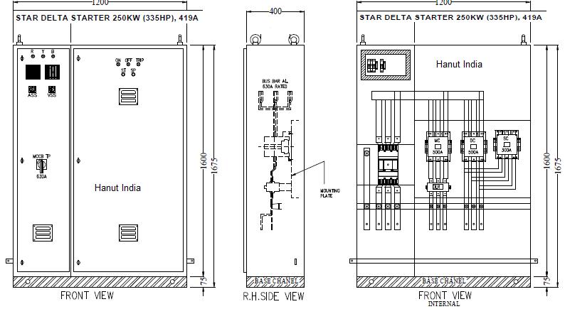 Hanut india offers automatic star delta motor starter panels for Star delta motor starter